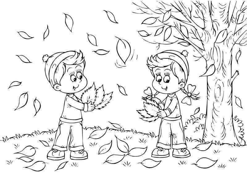 Раскраски осень для детей 5 6 лет - 6