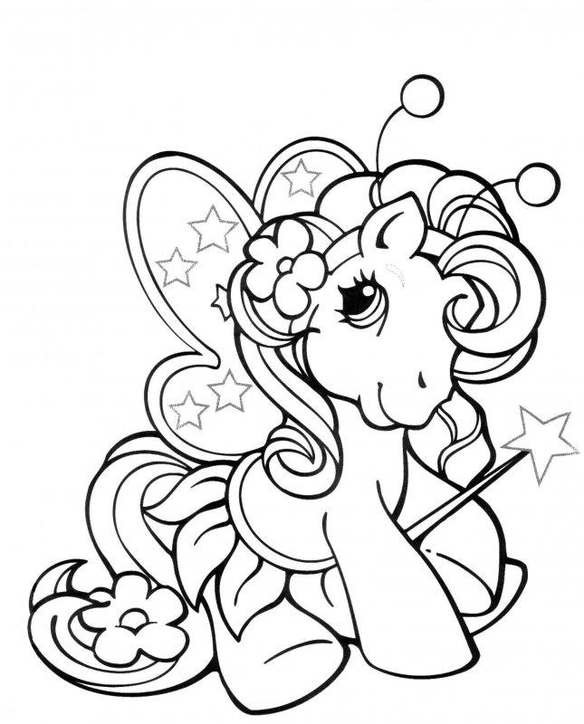 Раскраски для девочек распечатать пони - 10